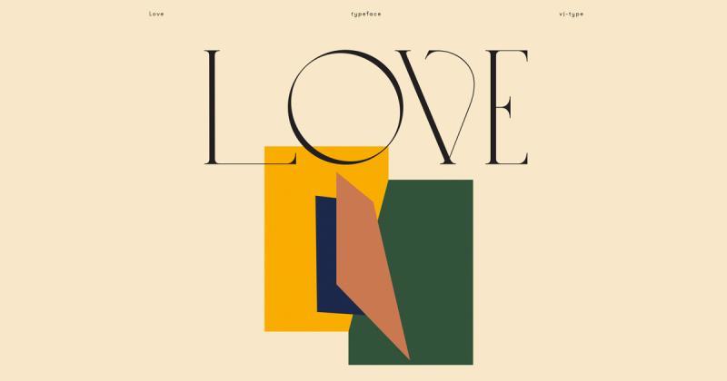 Love - Typeface yêu kiều với những đường cong quyến rũ