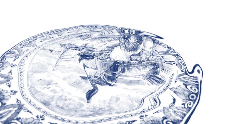 Những chiếc đĩa gốm trông như hồ bơi của Brendan Tang