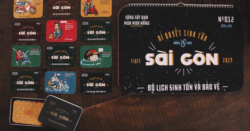 Sài Gòn Calendar: Bí quyết sinh tồn qua mùa mưa nắng