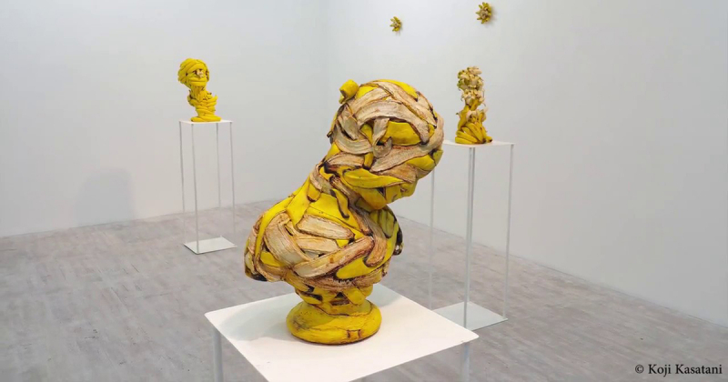 Chiêm ngưỡng những bức tượng điêu khắc từ chuối của nghệ sĩ Koji Kasatani