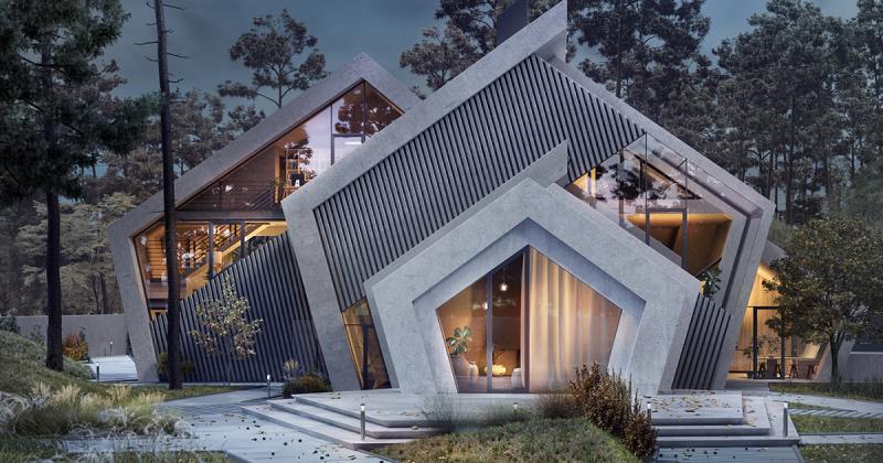 Pentahouse - ngôi nhà với kiến trúc vững chãi như những ngọn núi