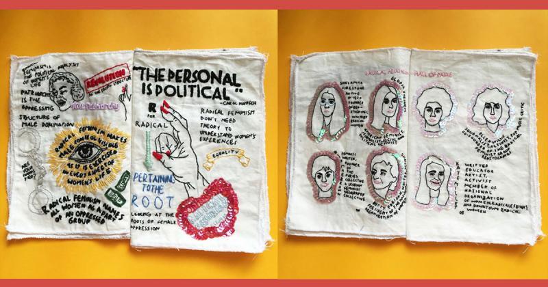 Bản zine thêu tay độc đáo của Claudia Akhsa về chủ nghĩa nữ quyền cấp tiến