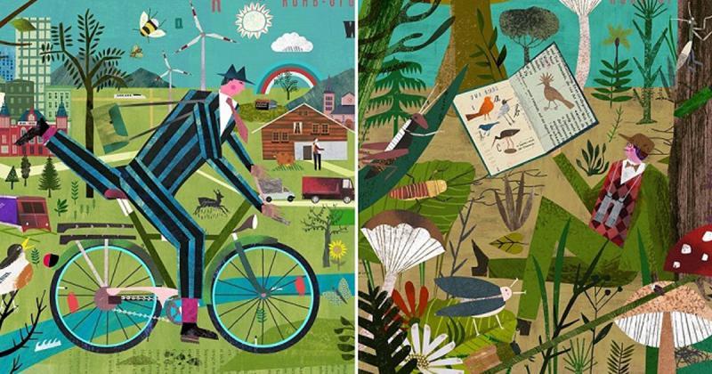 Những bức tranh cắt dán sống động đầy màu sắc của Martin Haake