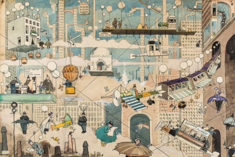 Họa sĩ thiên tài người Anh W. Heath Robinson với trí tưởng tượng phi thường