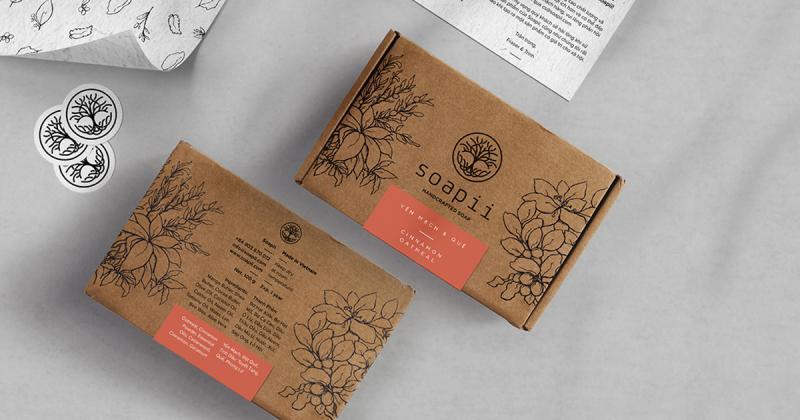 Bao bì giấy craft dành cho thương hiệu xà phòng thủ công Việt Nam Soapii
