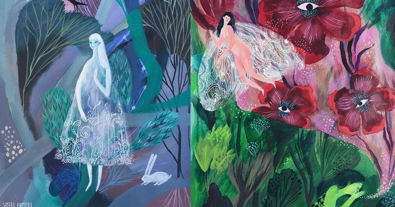 Sofia Moore vẽ nên thế giới thần tiên từ chuyện cổ tích
