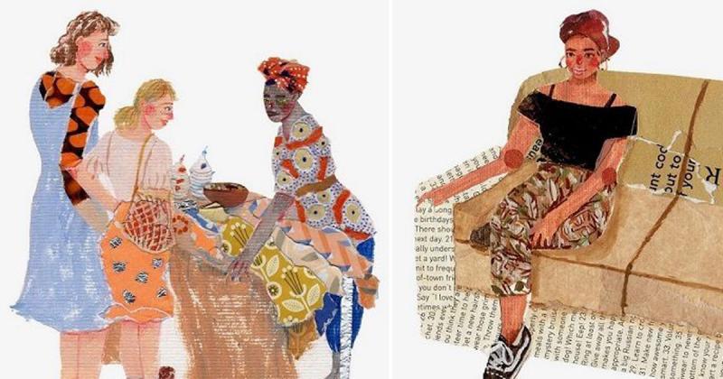 Những bức tranh cắt dán vui nhộn và sắc màu của Aura Cherrybag