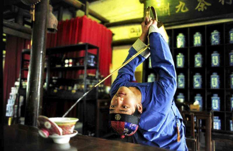 Nghệ thuật văn hoá trà Kung fu xứ Tứ Xuyên