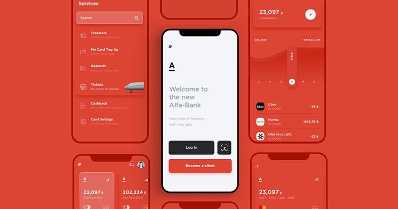 [UI Inspiration] Tái thiết kế giao diện ứng dụng mobile của Alfa Bank