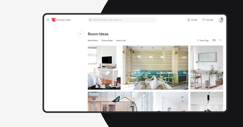 [UI Inspiration] Tái thiết kế giao diện cho trang web thương mại điện tử Overstock.com - sự thanh lịch của phong cách tối giản