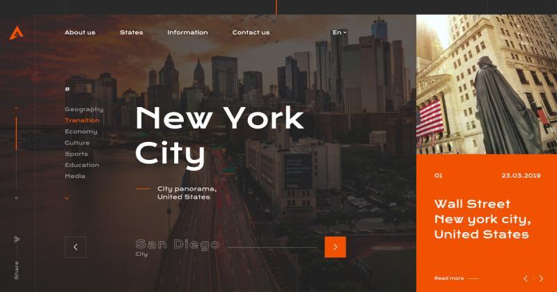 [UI Inspiration] Aunited - Trang web ấn tượng giúp bạn khám phá lịch sử Hoa Kỳ