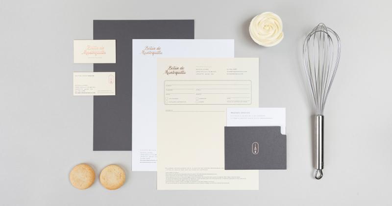 Bộ nhận diện cho cửa hàng in ấn lấy cảm hứng từ quy trình làm bánh