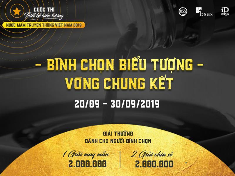 Bình chọn biểu tượng Vòng Chung kết - Cuộc thi thiết kế biểu tượng Nước mắm truyền thống Việt Nam 2019