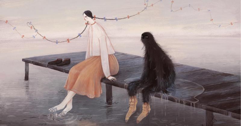 Tranh vẽ đượm buồn của hoạ sĩ Marie Muravski: Sáng tạo nằm trong tâm trí