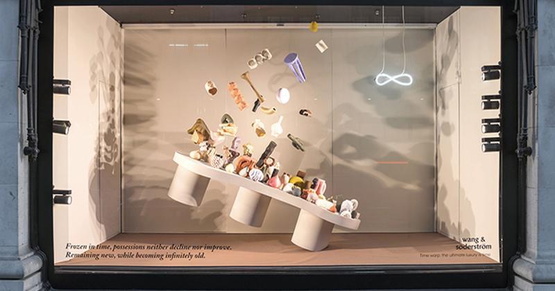 Wang & Söderström thiết kế những cửa sổ trưng bày trừu tượng nói về sự xa xỉ của thời gian