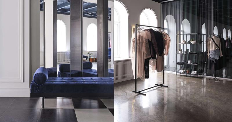 Cửa hàng trưng bày chiết trung của thương hiệu thời trang Litkovskaya