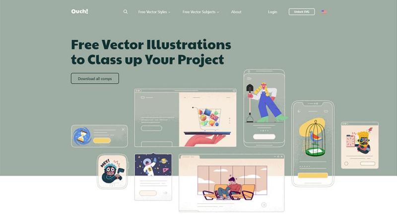 13 trang web cung cấp minh họa vector miễn phí bạn nên biết