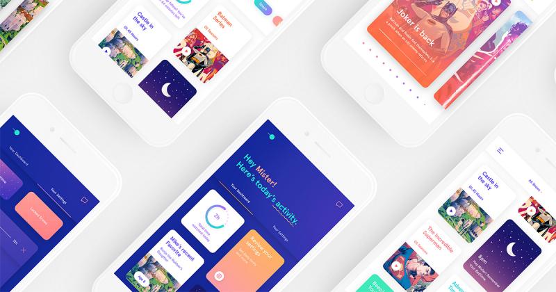 [UI Inspiration] Hello KiddOs - ứng dụng phát trực tuyến với thiết kế tương tác cho trẻ em