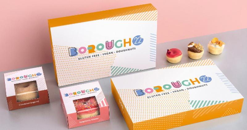 Bộ nhận diện vui nhộn dành cho tiệm bánh Borough22 ở London