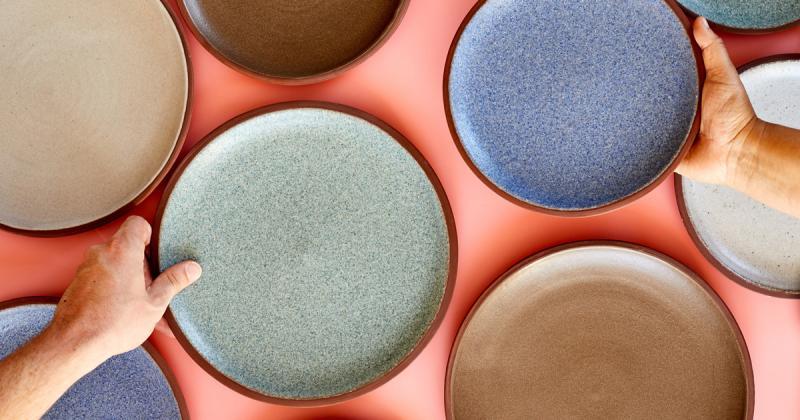 Granby Workshop làm gốm từ vật liệu công nghiệp thừa