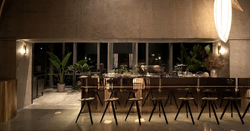 Thiết kế lounge tại toà nhà Landmark 81 lấy cảm hứng từ hình ảnh hạt gạo