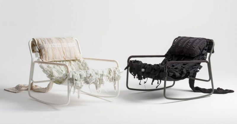 Những chiếc ghế tái sử dụng chất liệu vải dù