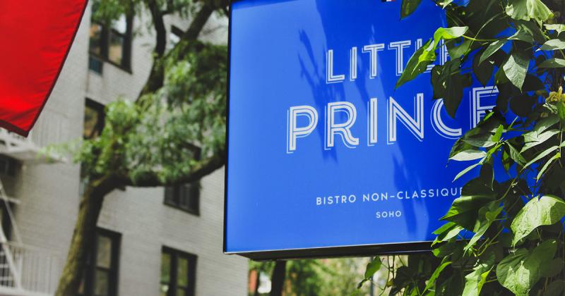 Bộ nhận diện đầy chất pháp của nhà hàng Little Prince tại New York