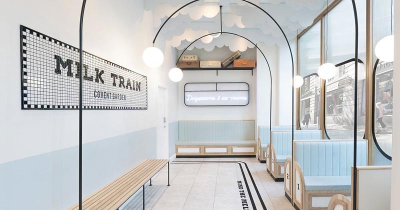 Milk Train: Cửa hàng kem lấy cảm hứng từ không gian tàu điện ngầm đầu thế kỷ 20