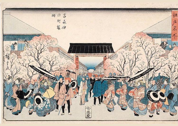 Ý nghĩa và giá trị biểu tượng hoa anh đào trong văn hóa nghệ thuật Nhật Bản