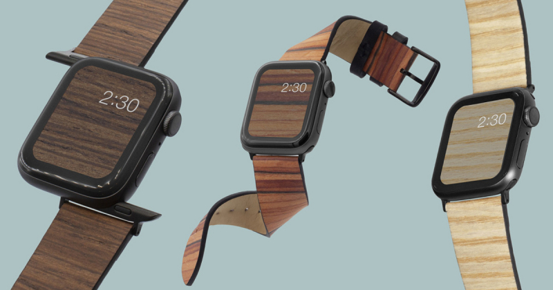 Dây đeo bằng gỗ dành cho Apple Watch từ Analog Watch Co.