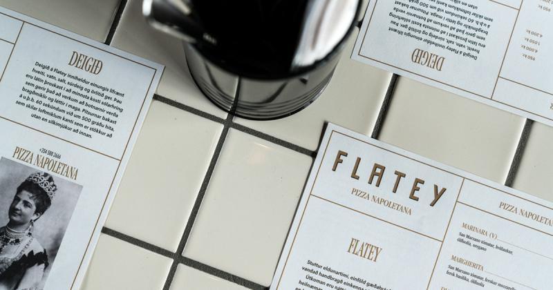 Bộ nhận diện của nhà hàng pizza Flatey gợi nhắc về những giá trị truyền thống xứ Naples