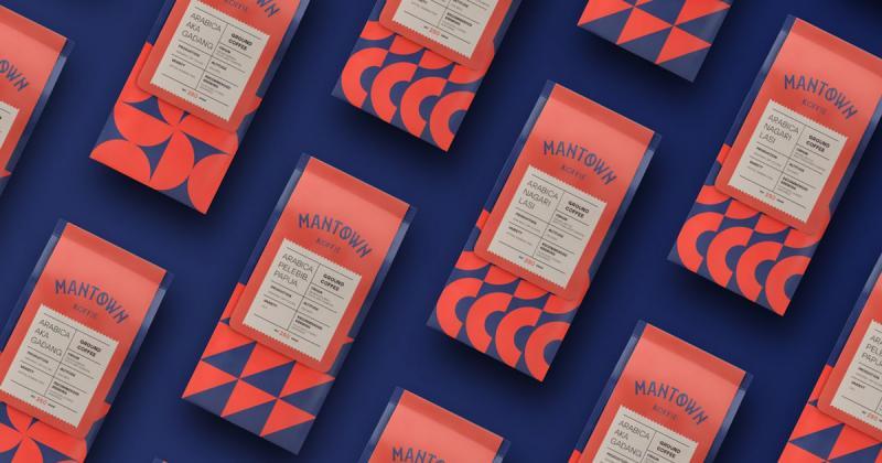 Bộ nhận diện hình học của tiệm cà phê ManTown Koffie