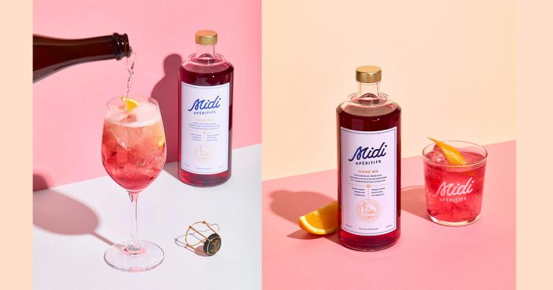 Thiết kế bao bì ngọt ngào dành cho rượu hồng Midi Apéritifs