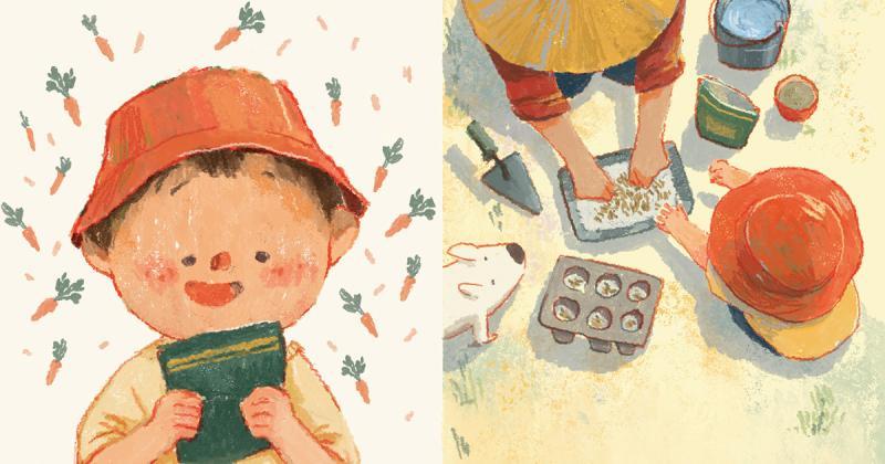 """Hoạ sỹ Siêu Trần minh hoạ sách tranh """"Mảnh vườn của San"""" cho tổ chức quốc tế Room to Read"""