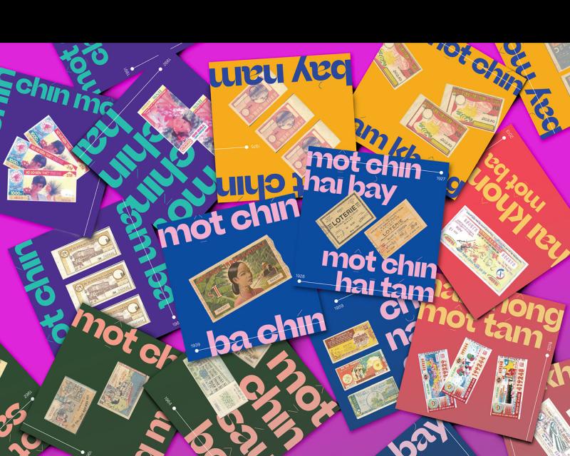 """Dự án """"Dé Số điii"""" mang lại cái nhìn mới mẻ vào những tấm vé số xưa cũ của người Việt"""