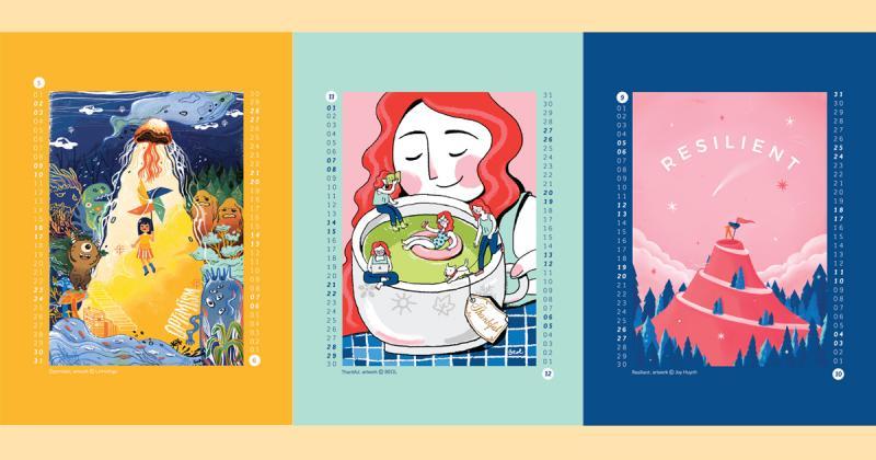 Bộ lịch Superpower 2020 và nét vẽ của 6 họa sĩ minh họa Việt