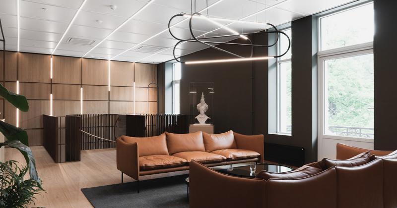 Văn phòng tông nâu ấm áp của Boston Consulting Group tại Na Uy