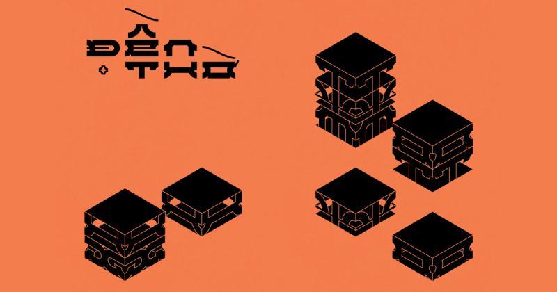 Bộ chữ DEN/Đền thờ in dấu nét kiến trúc chùa chiền Việt