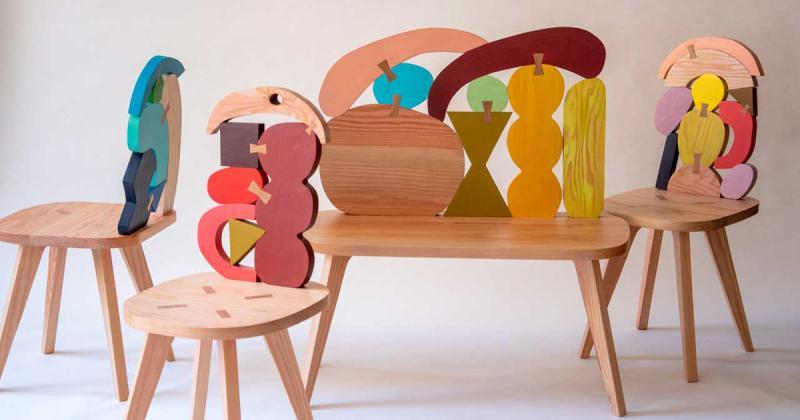 Những chiếc ghế trừu tượng của Donna Wilson bước từ trang giấy ra ngoài đời thật