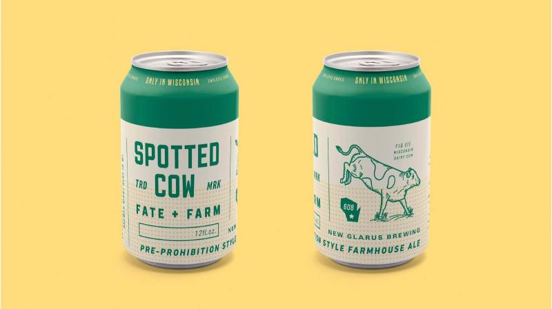 Thiết kế nhận diện cho hãng bia Spotted Cow đậm tinh thần nông nghiệp