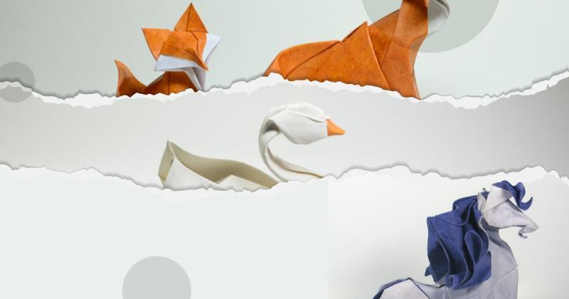 """Xem Hoàng Tiến Quyết thổi hồn động vật bằng kỹ thuật """"gấp ướt"""" Origami"""