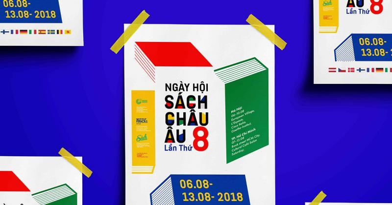 """Đồ án thiết kế mang sắc màu Bauhaus rực rỡ dành cho ngày hội sách """"European Books Day"""""""