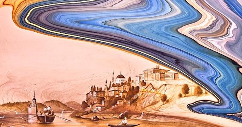 """Bức tranh bước ra từ mặt nước - nghệ thuật Ebru và kỹ thuật """"vẽ tranh thủy ấn"""" cổ xưa"""