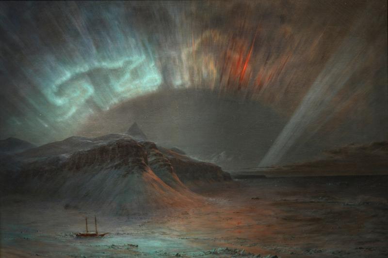 'Những ánh lửa bập bùng trên nóc nhà của thế giới': Cực quang trong các tác phẩm nghệ thuật