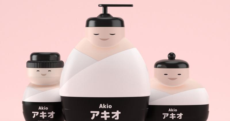 Bao bì thiết kế đầy bất ngờ dành cho bộ sữa tắm trẻ em Akio