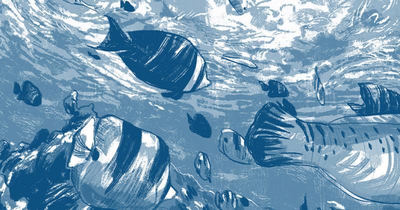 Breath of Water: Bộ tranh xanh rì về vùng biển bao la của Rồng Phạm