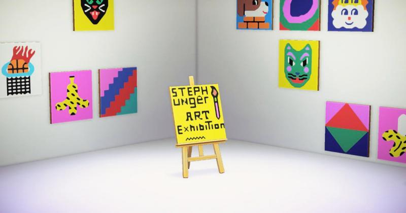 Mùa dịch chơi Animal Crossing rồi mở luôn… triển lãm nghệ thuật trên game