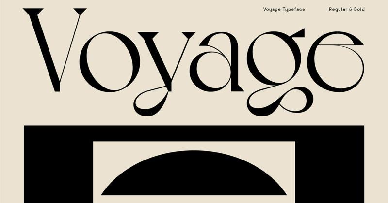 Typeface Voyage - Những con đường mòn uốn lượn trong chuyến dã ngoại mùa hè