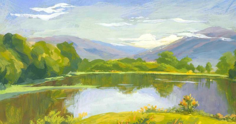 Cảm hứng từ Đà Nẵng và Hội An, Alex Sprouse ký hoạ thiên nhiên qua bộ tranh màu gouache