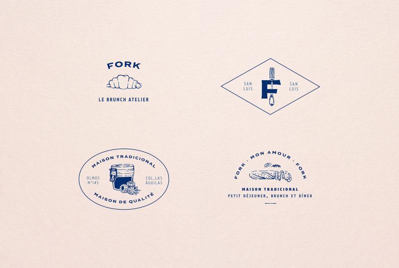 Bộ nhận diện nhà hàng Fork: tinh thần Pháp, hương vị Mexico